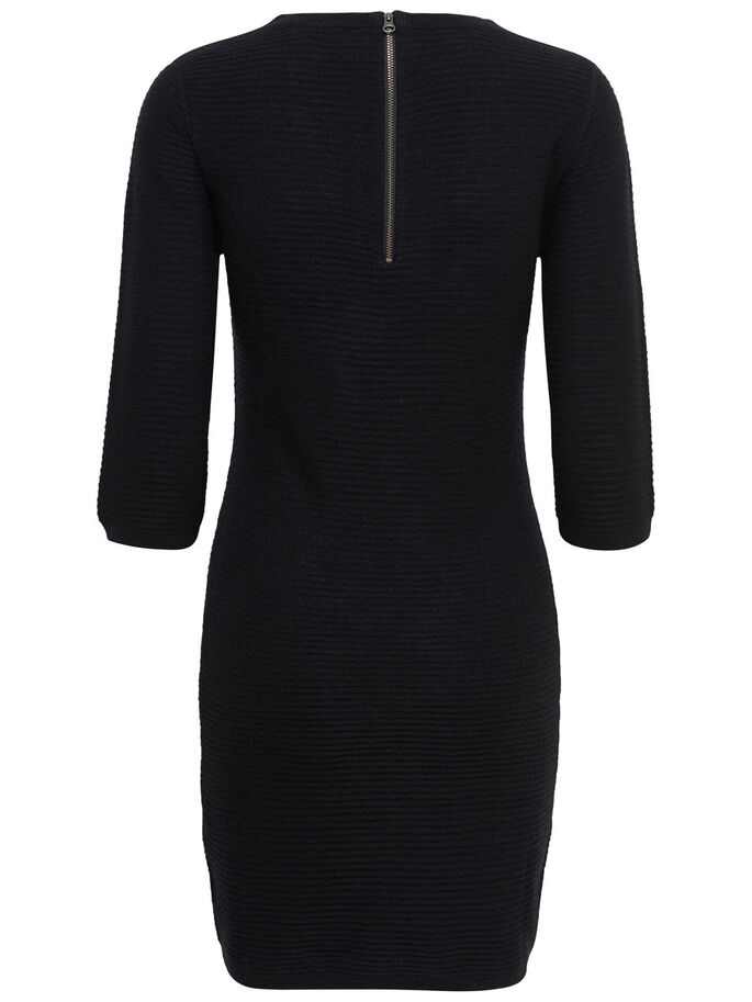 ZIP DRESS, Black, large