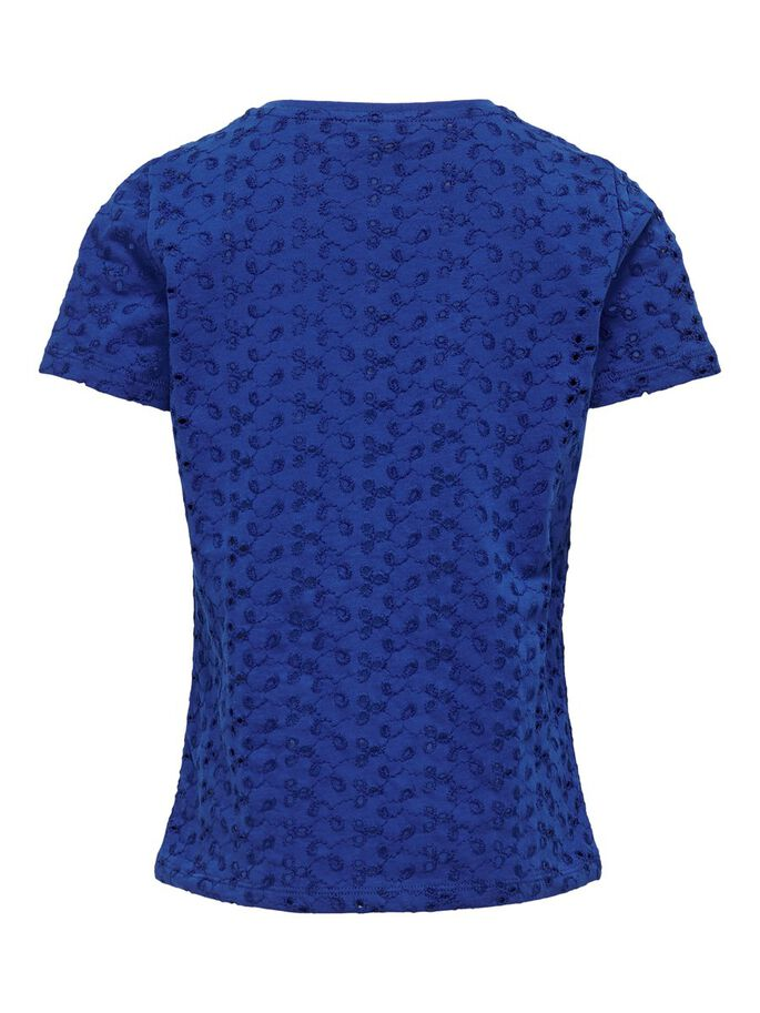 EMBROIDERY ANGLAISE TOP, Mazarine Blue, large