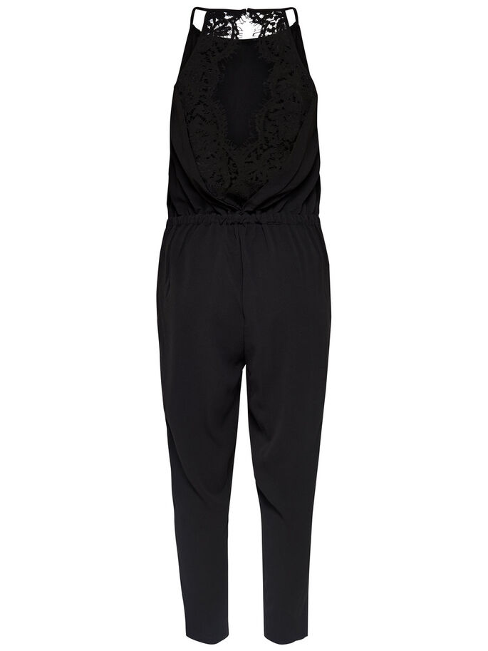 STRAP JUMPSUIT, Black, large