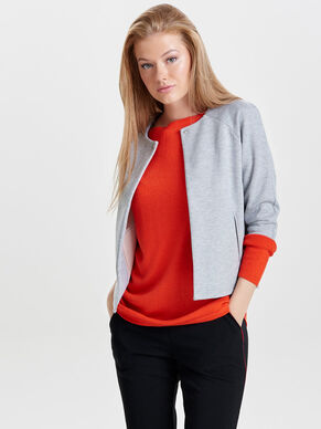 SWEAT MANCHES COURTES. CARDIGAN