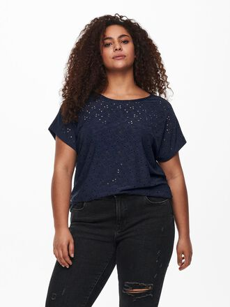 CURVY EMBROIDERY ANGLAIS TOP