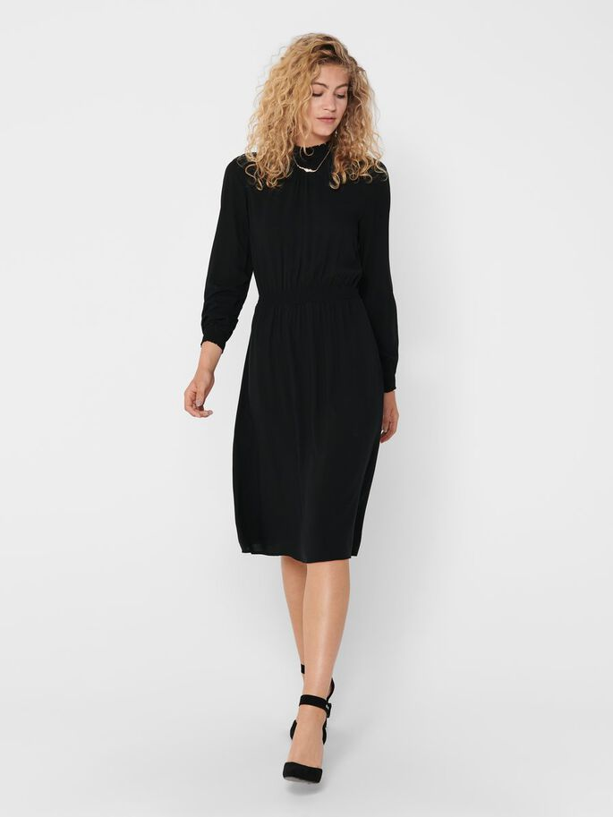 MIDI DRESS, Black, large