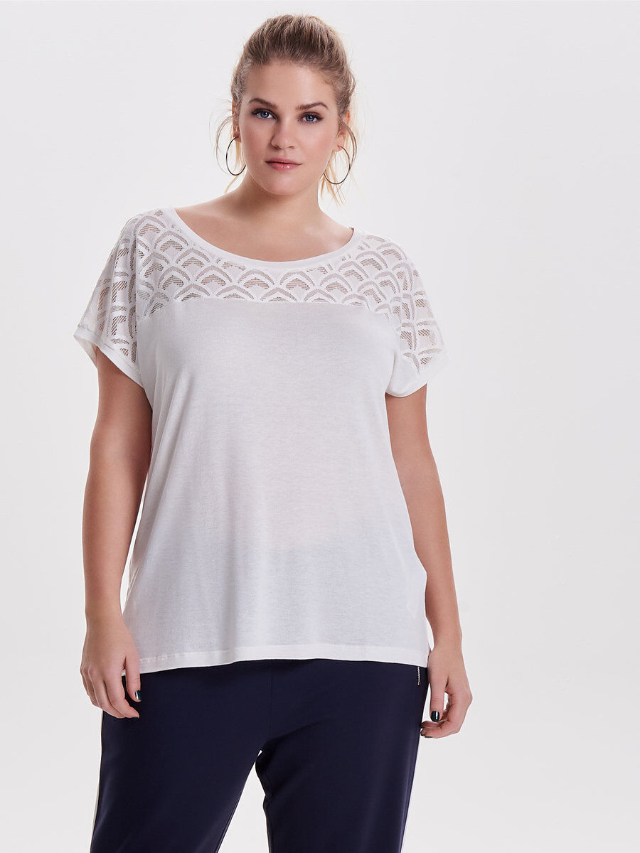 Only Curvy Short Sleeved Top Women 2018 Clearance Browse Reliable Online rCODCF