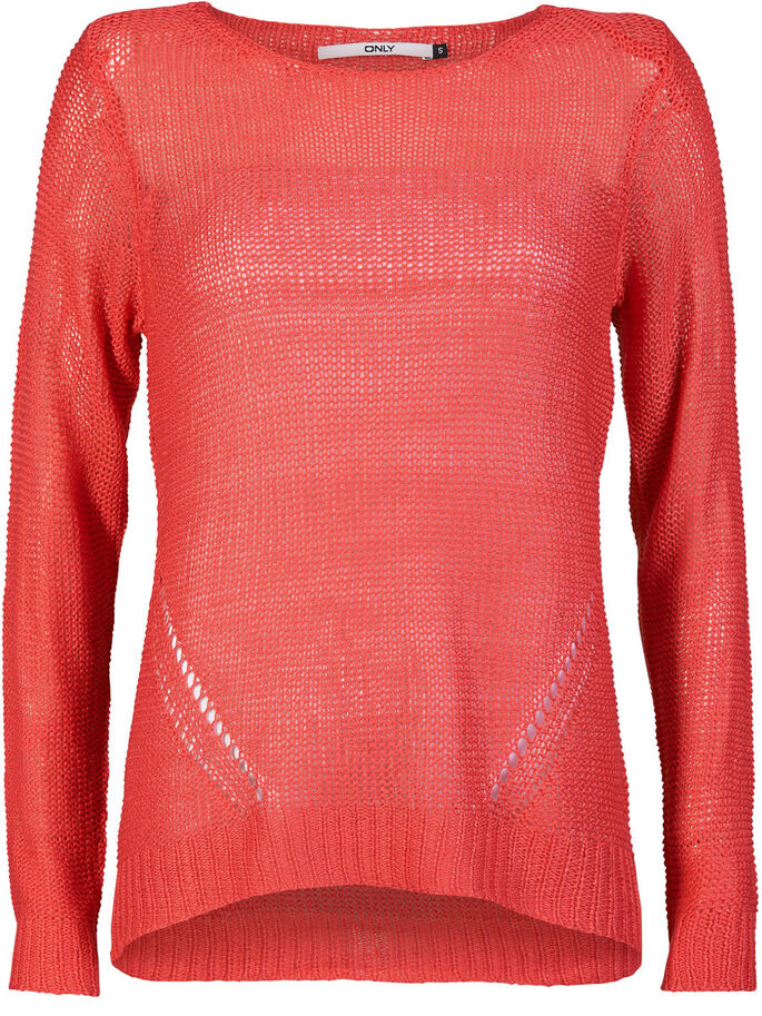 DETAILED KNITTED PULLOVER, Teaberry, large