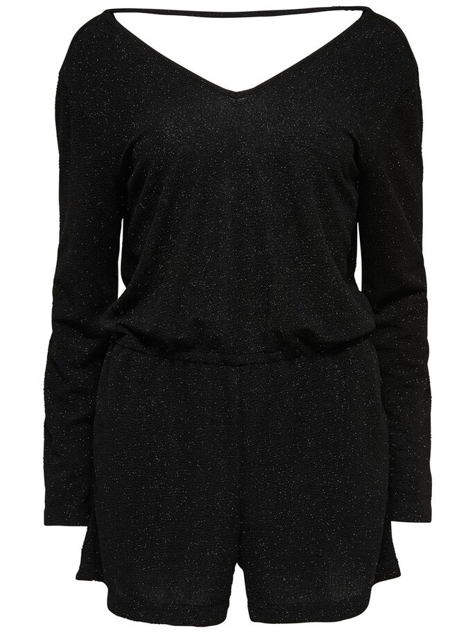 LANGÆRMET PLAYSUIT, Black, large