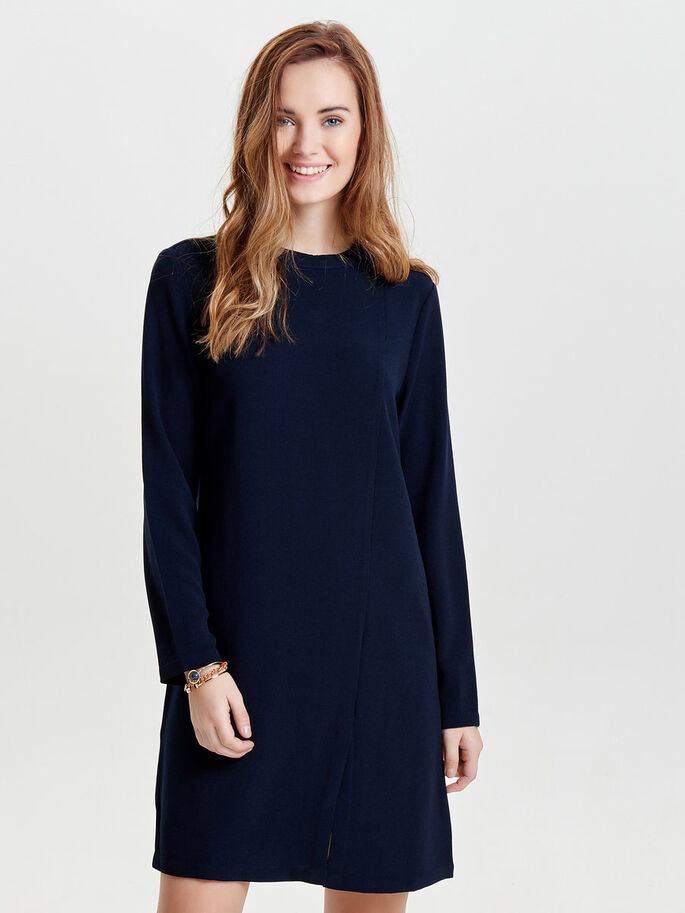 HIGH NECK LONG SLEEVED DRESS, Night Sky, large