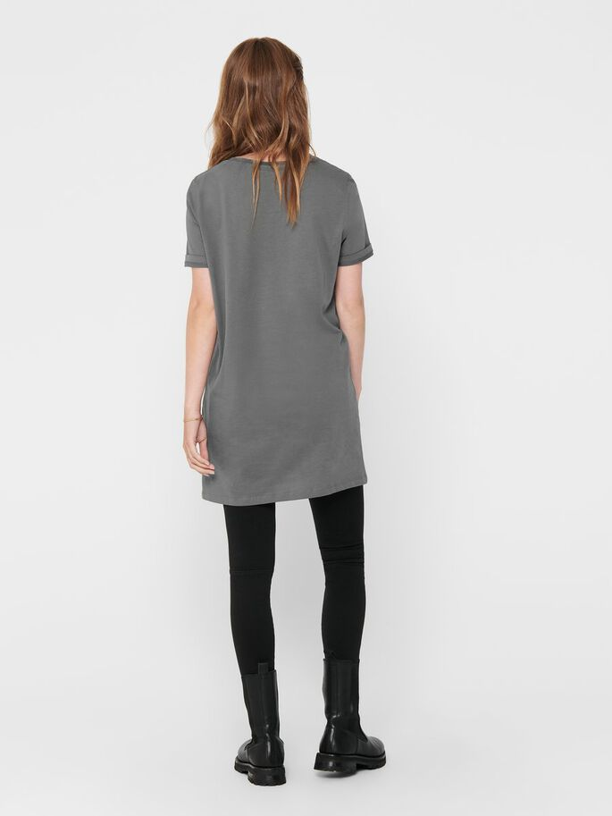 LONG T-SHIRT, Dark Grey, large