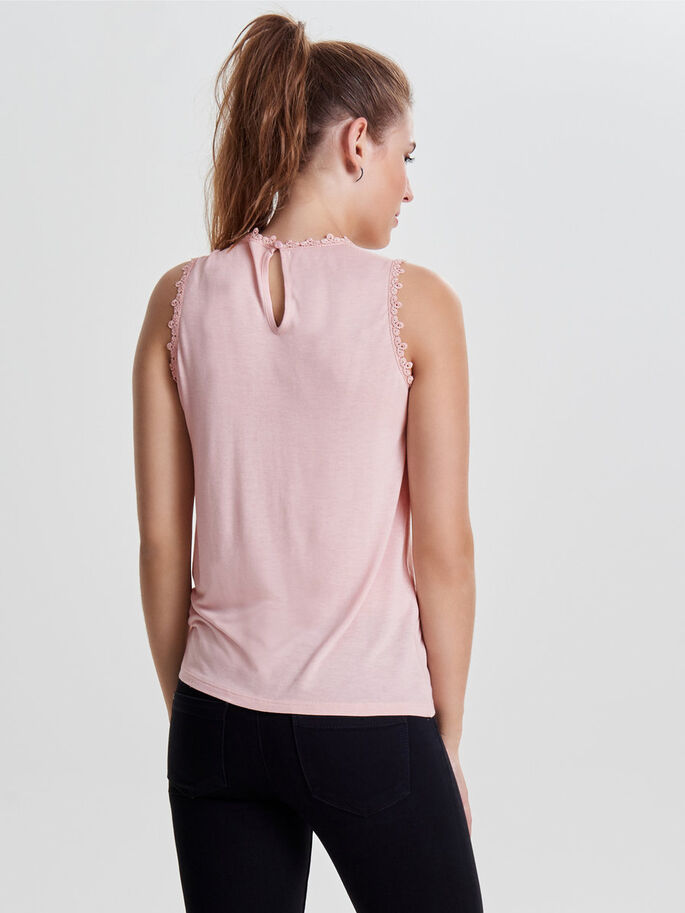 DETAILED SLEEVELESS TOP, Rose Smoke, large