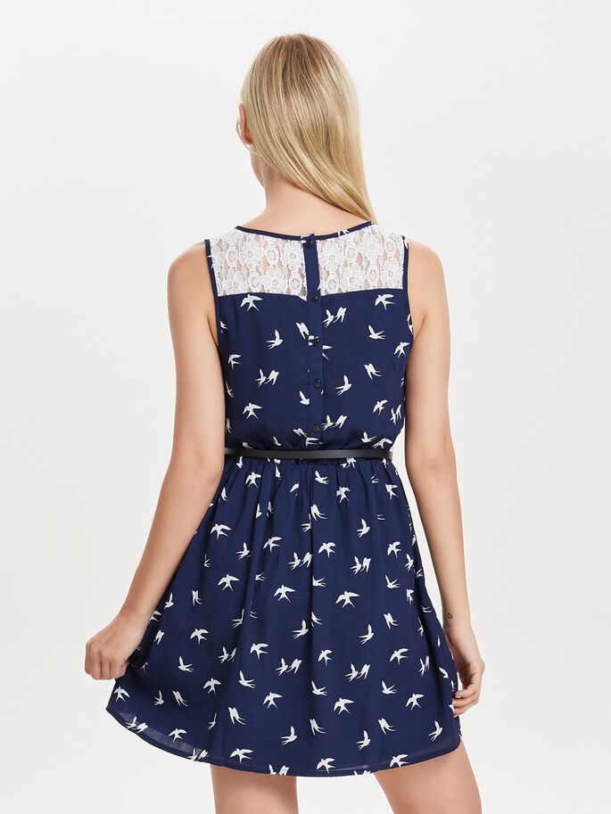 PRINTED SLEEVELESS DRESS, Night Sky, large
