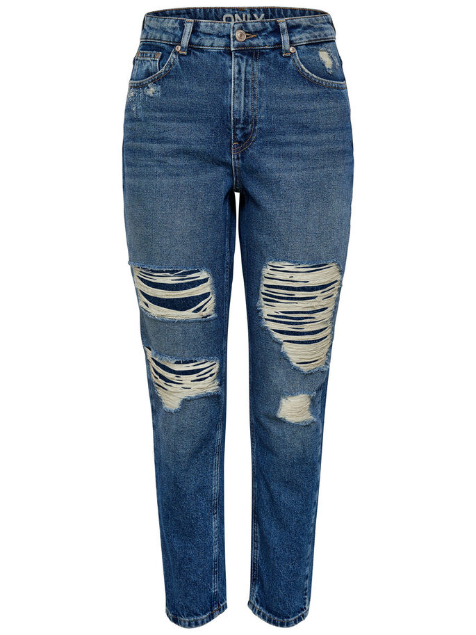 CHEVILLE MOM JEAN DROIT, Medium Blue Denim, large