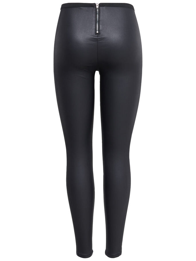 SHINY HIGH WAIST LEGGINGS, Black, large