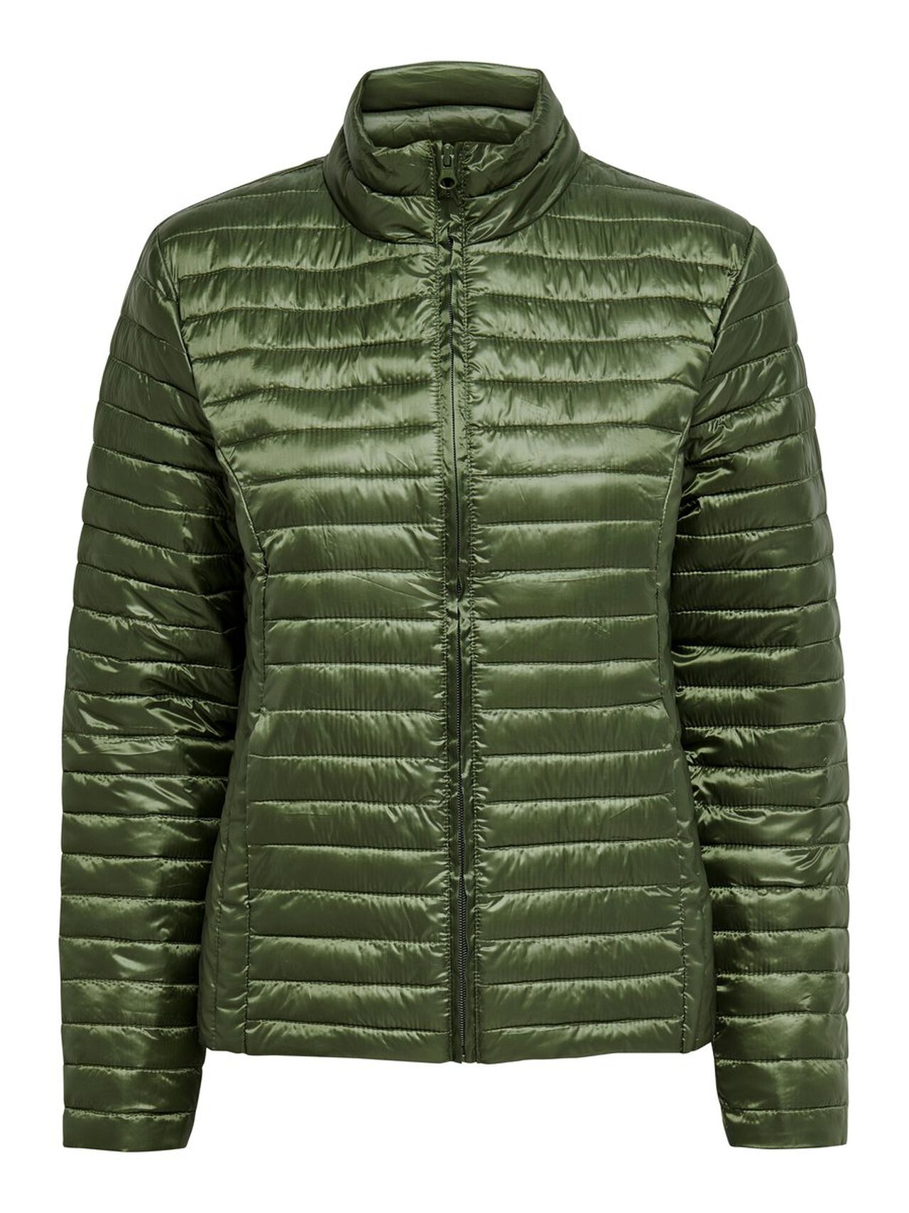 ONLY Solid Quilted Jacket Women Green
