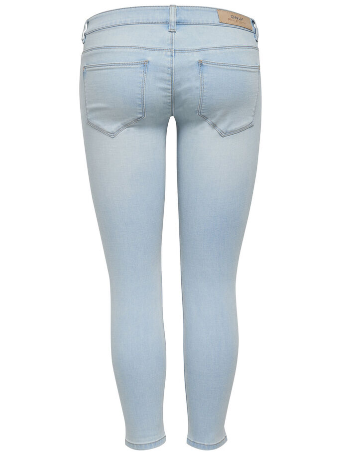 CORAL SUPERLOW ANKLE SKINNY FIT JEANS, Light Blue Denim, large