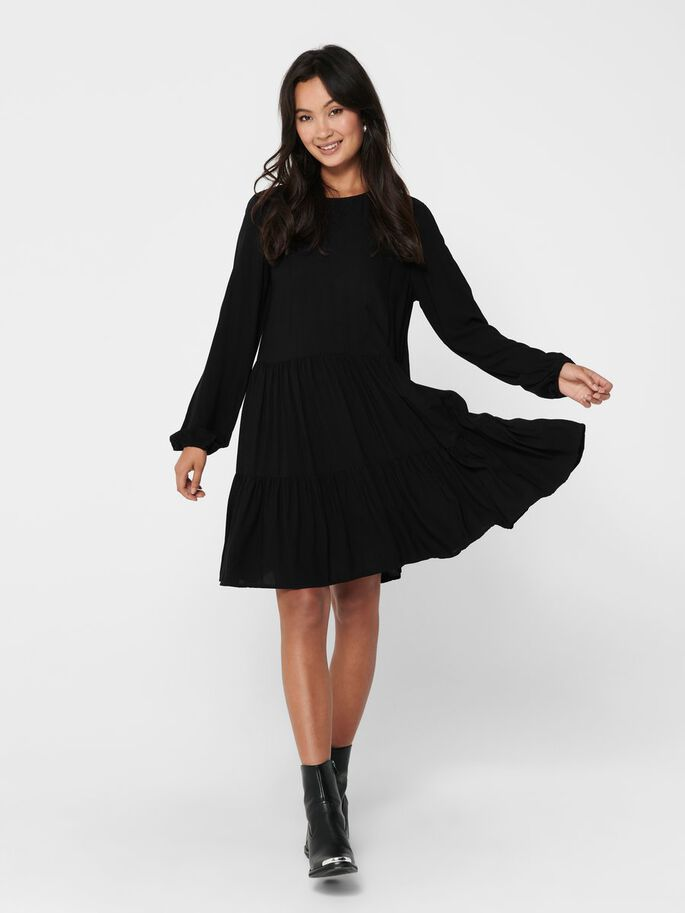 VOLANTS ROBE, Black, large