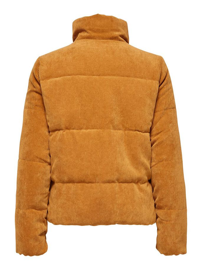 QUILTED CORDUROY JACKET, Leather Brown, large