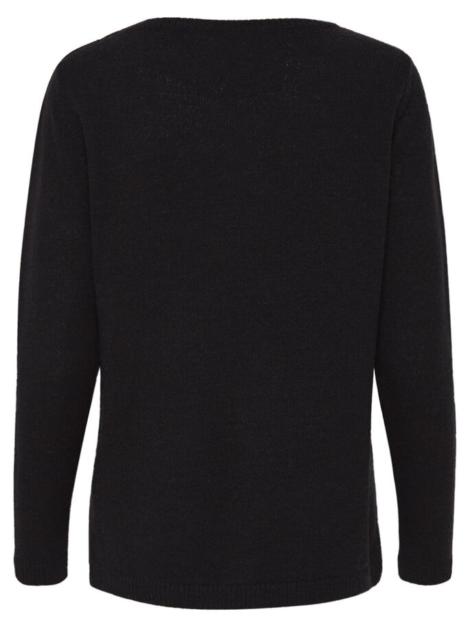HJERTE STRIKKET PULLOVER, Dark Navy, large