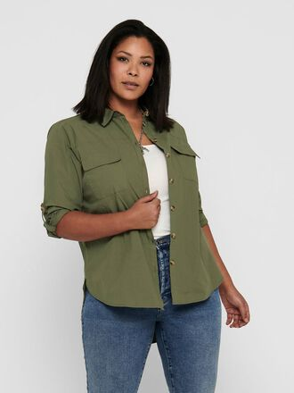 CURVY LOOSE FITTED SHIRT