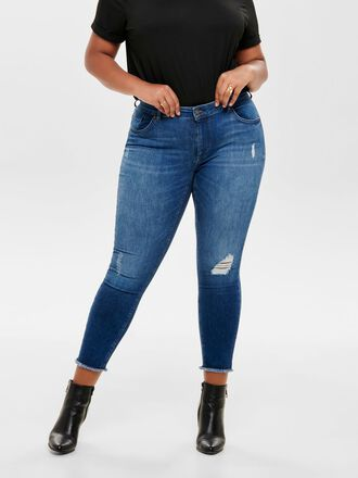 CURVY CARWILLY REG ANKLE SKINNY FIT JEANS