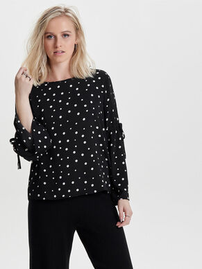 FLOWER LONG SLEEVED TOP