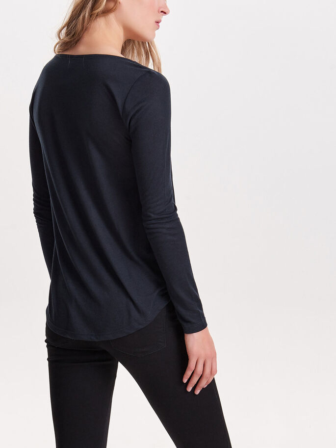 WRAP LONG SLEEVED TOP, Night Sky, large