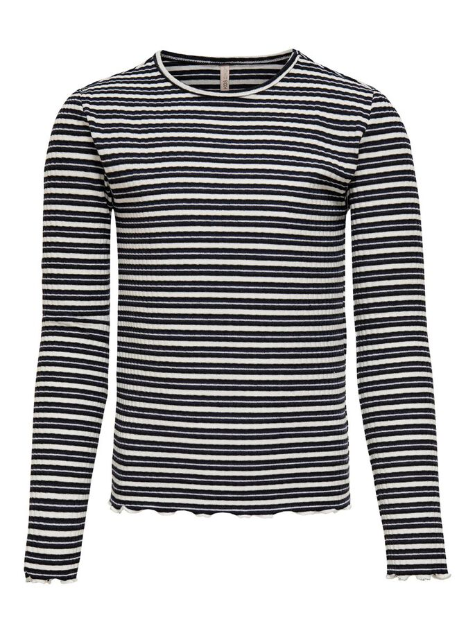 STRIPED TOP, Evening Blue, large