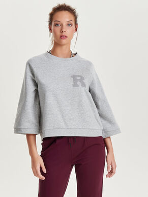 SWEAT 3/4 SLEEVED TOP