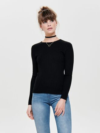 LONG SLEEVED RIB PULLOVER