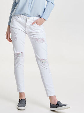 RELAX WHITE SKINNY FIT JEANS