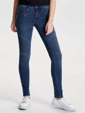 ROYAL NORMALHÖGA BIKERINSPIRERADE SKINNY FIT-JEANS