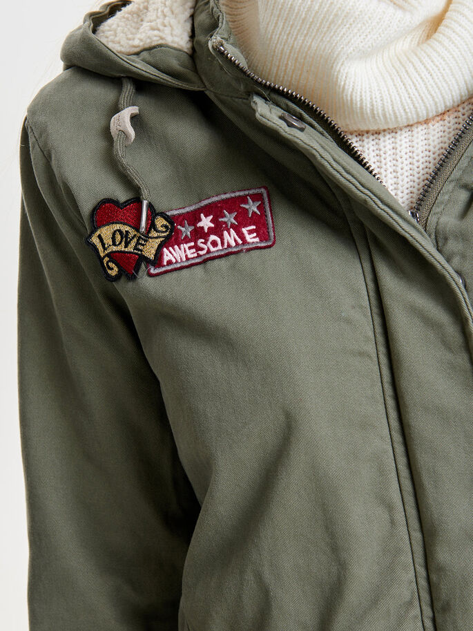 BADGE PARKA, Kalamata, large