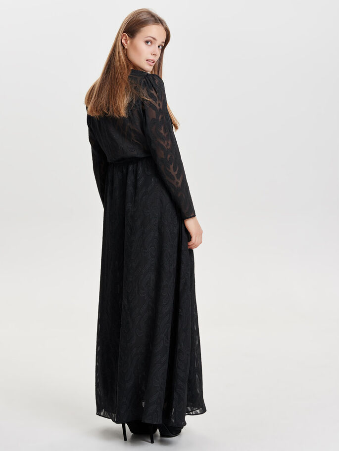 AVEC FINITIONS ROBE LONGUE, Black, large