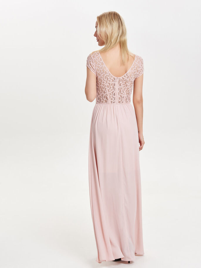 LACE MAXI DRESS, Rose Smoke, large