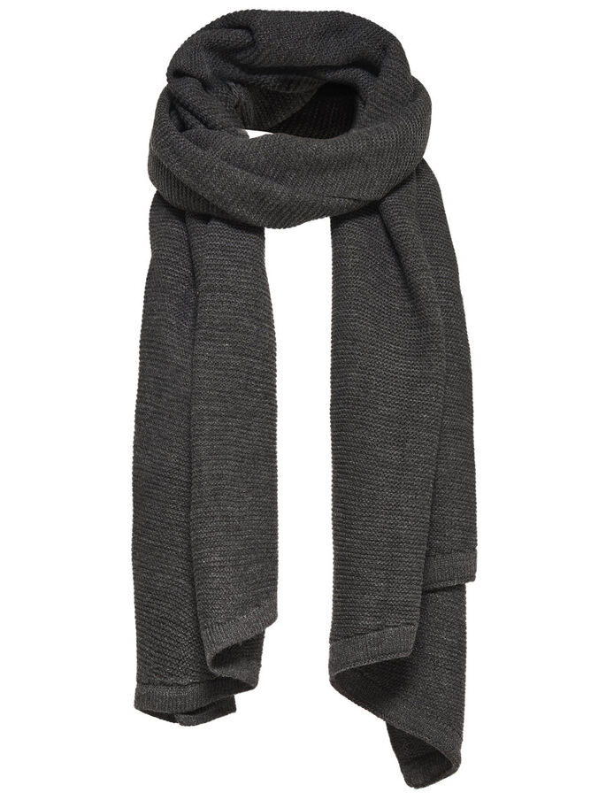 SOLID SCARF, Dark Grey Melange, large