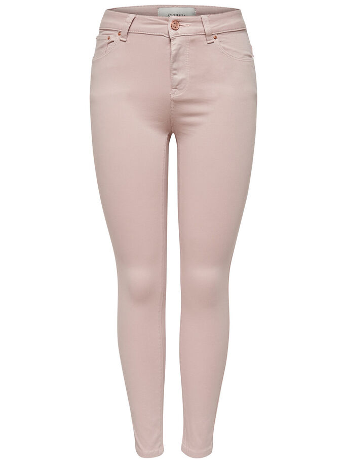STUDIO MW ANKLE SKINNY FIT JEANS, Tender Peach, large