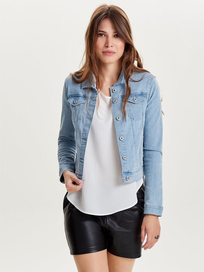Frill denim jacket | ONLY