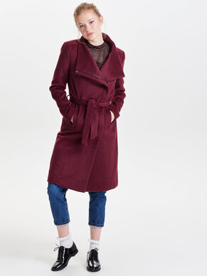 LONG LAINE MANTEAU