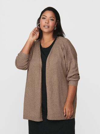 CURVY LOOSE KNITTED CARDIGAN