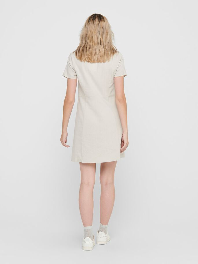 SHORT DRESS, Pumice Stone, large