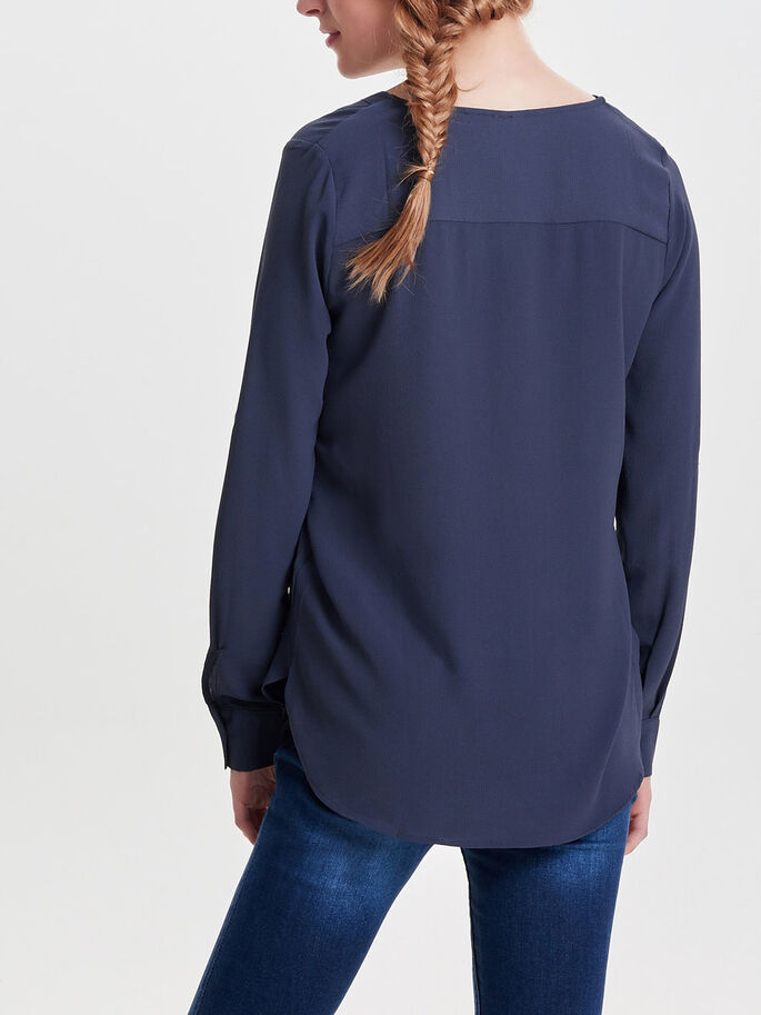 SOLID LONG SLEEVED SHIRT, Graphite, large