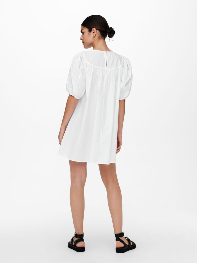 EMBROIDERY DRESS, Cloud Dancer, large