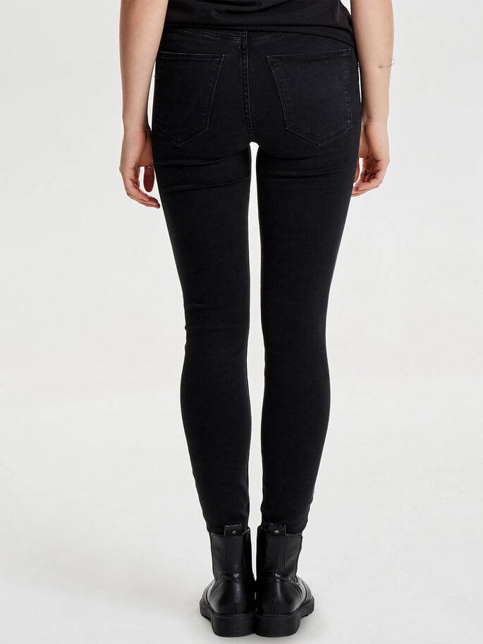 STUDIO1 HW JEAN SKINNY, Black Denim, large