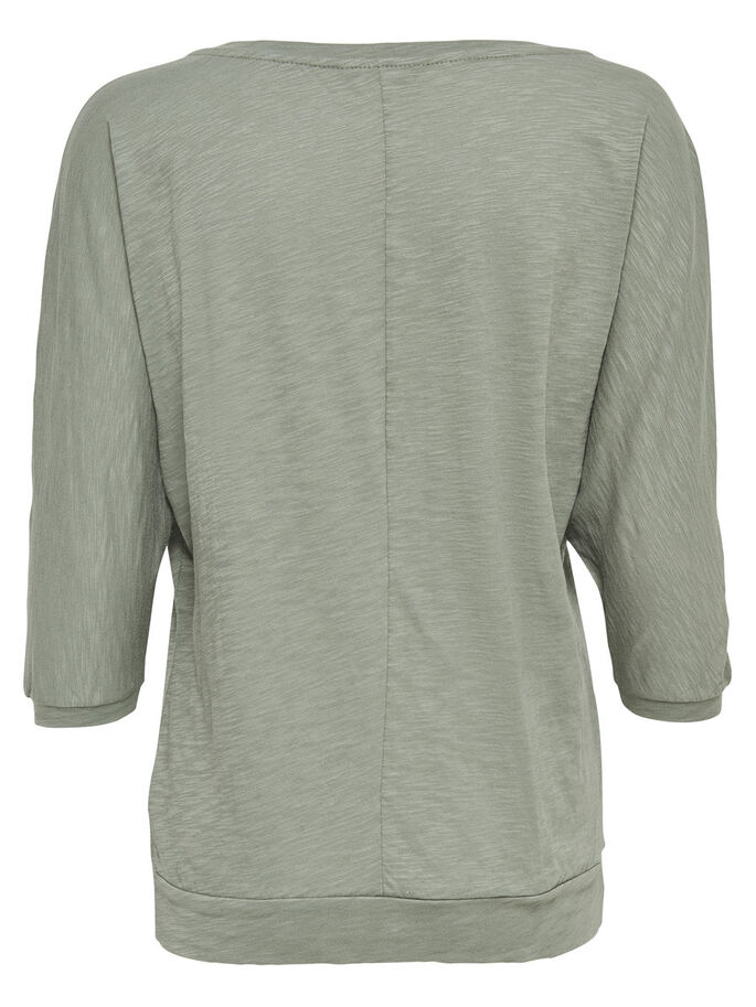 LOOSE 3/4 SLEEVED TOP, Agave Green, large