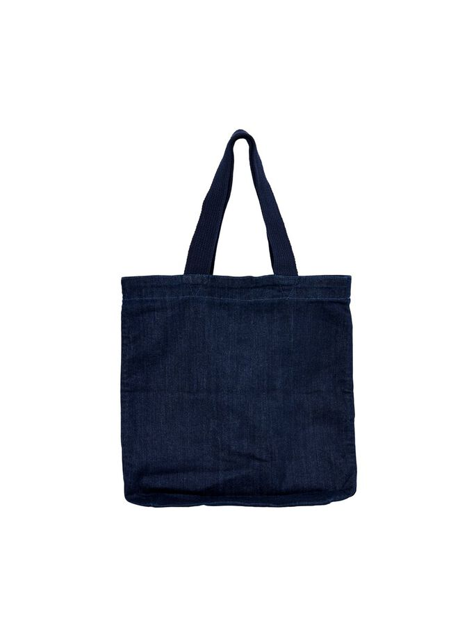 DENIM BAG, Dark Blue Denim, large