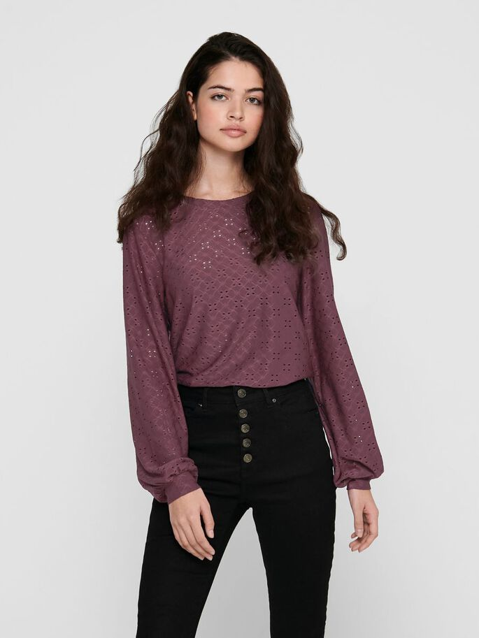 BELL SLEEVE TOP, Sassafras, large