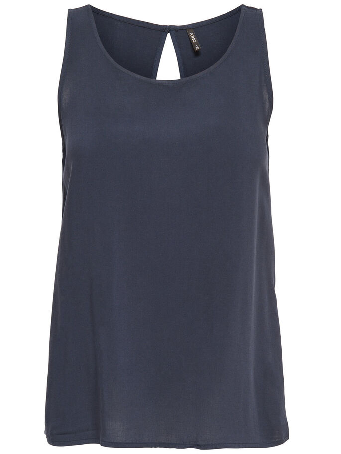 SOLID SLEEVELESS TOP, Night Sky, large