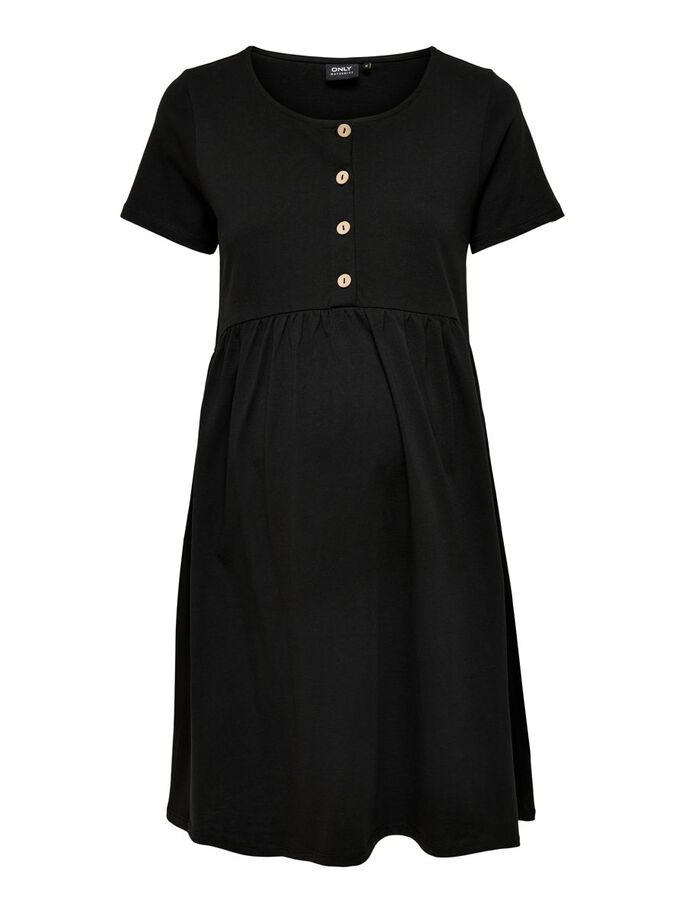 MAMA SOLID COLORED DRESS, Black, large