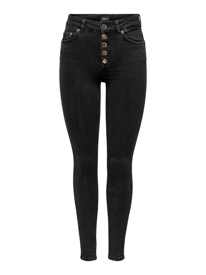 PETITE ONLBOBBY MID ANKLE SKINNY FIT JEANS, Black, large