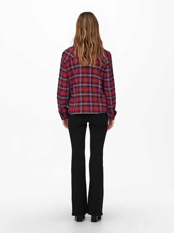 MAMA CHECKED SHIRT, Red Ochre, large
