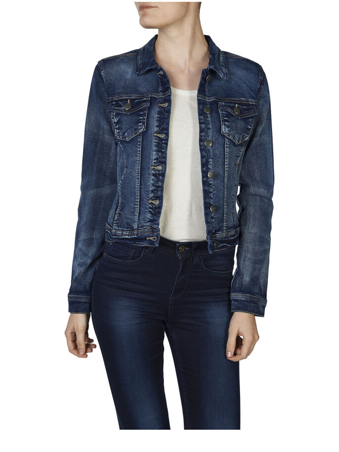 DARK DENIM JACKET, Dark Blue Denim, large