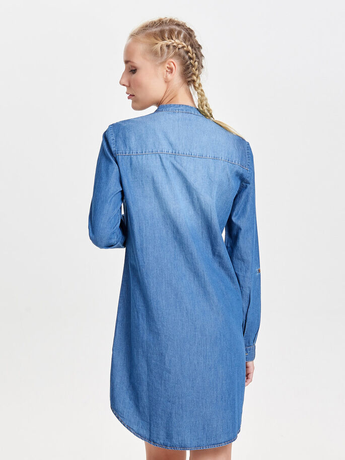 LØS DENIMKJOLE, Medium Blue Denim, large